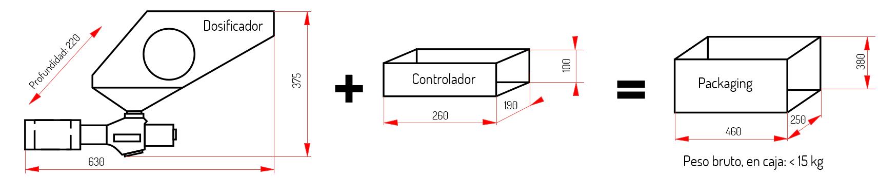 Dimensiones Masterpro MP-50/9